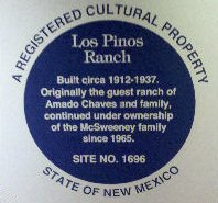 Los Pinos Guest Ranch is a New Mexico historical landmark.